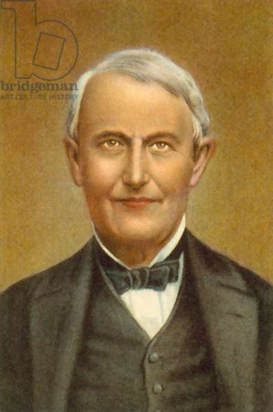 Thomas Edison (colour litho)