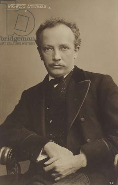 Portrait of Richard Strauss (b/w photo)