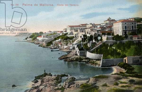 Costa del Terreno, Palma de Mallorca, Majorca (coloured photo)
