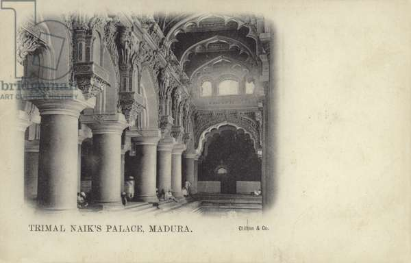 Trimal Naik's Palace, Madura (b/w photo)