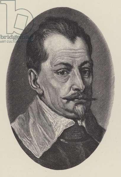 Albrecht von Wallenstein, Bohemian general of the Thirty Years War (litho)