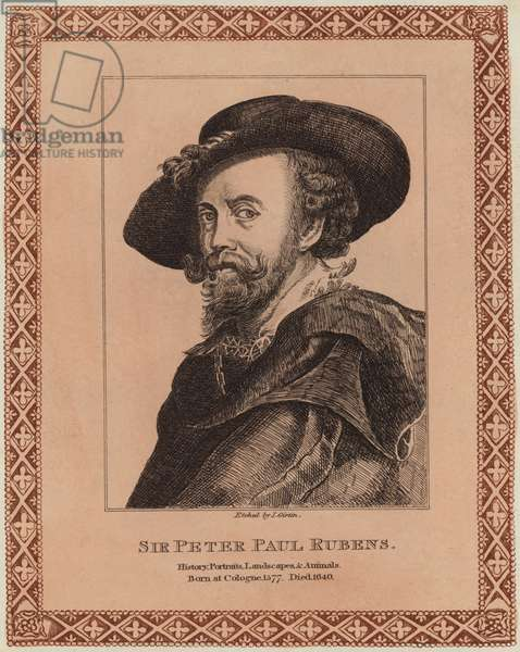 Portrait of Peter Paul Rubens (engraving)