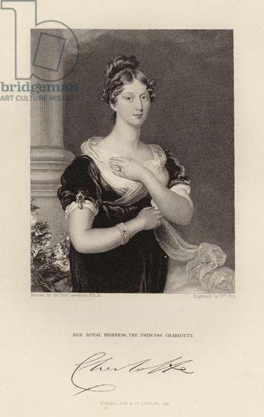 Her Royal Highness The Princess Charlotte (engraving)