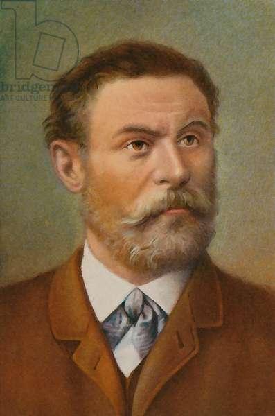 Otto Lilienthal (colour litho)
