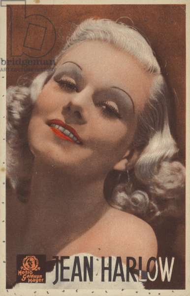 Jean Harlow, American actress and film star (coloured photo)