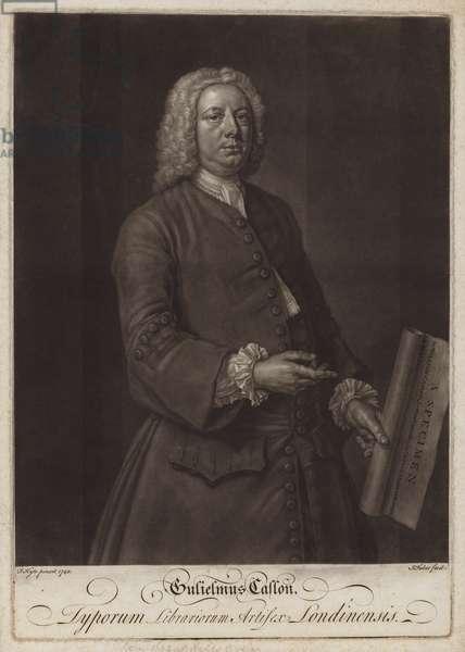 William Caslon, English typographer (mezzotint)