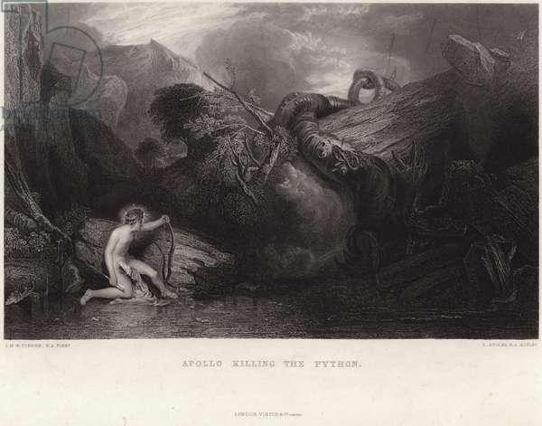 Apollo killing the python (engraving)
