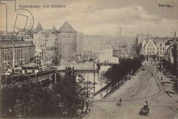 Mattenbuden and Schaferei, Danzig (b/w photo)