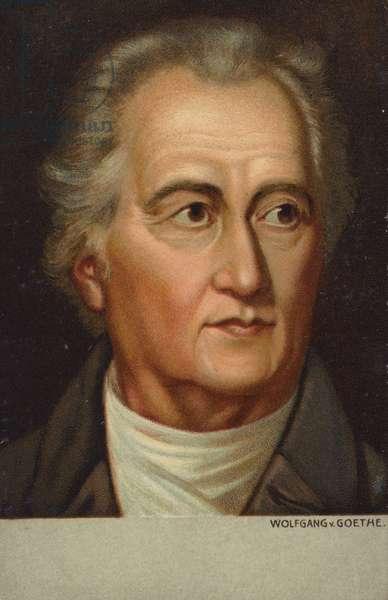 Johann Wolfgang von Goethe (1749-1832), German poet, novelist and playwright (chromolitho)