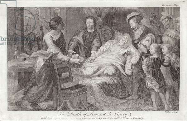 The Death of Leonardo da Vinci (engraving)