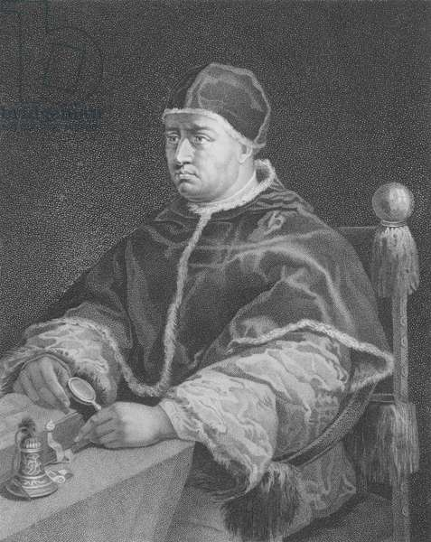 Pope Leo X, after a portrait by Raphael (engraving)