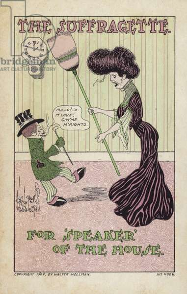 The Suffragette for Speaker of the House (colour litho)