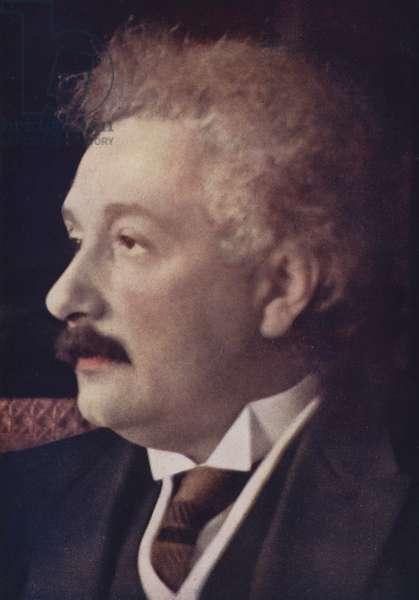 Albert Einstein, German-born theoretical physicist (coloured photo)