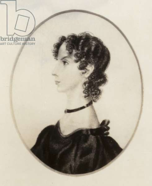Anne Bronte (1820-1849), English novelist and poet (litho)
