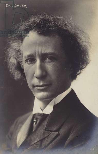 Portrait of Emil Sauer (b/w photo)