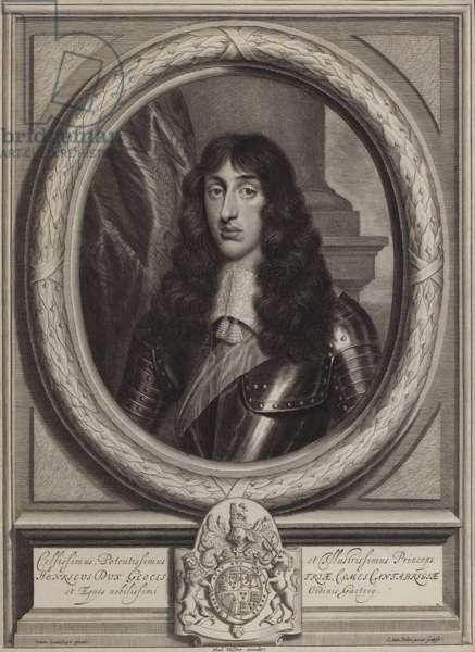 Henry Stuart, Duke of Gloucester, youngest son of King Charles I (engraving)