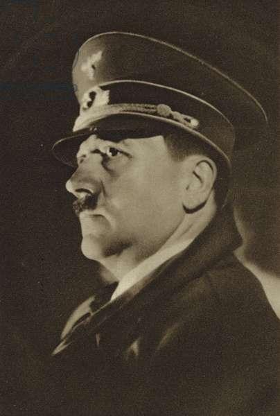 Adolf Hitler (b/w photo)