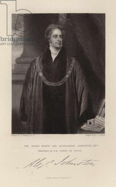 Sir Alexander Johnston (engraving)