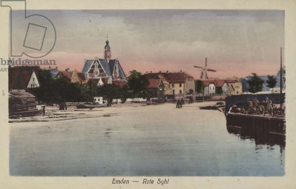 Rote Syhl, Emden, Germany (coloured photo)