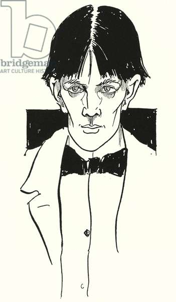 A portrait of Aubrey Beardsley by himself (engraving)