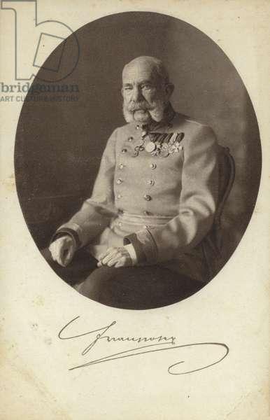 Emperor Franz Joseph I of Austria (b/w photo)