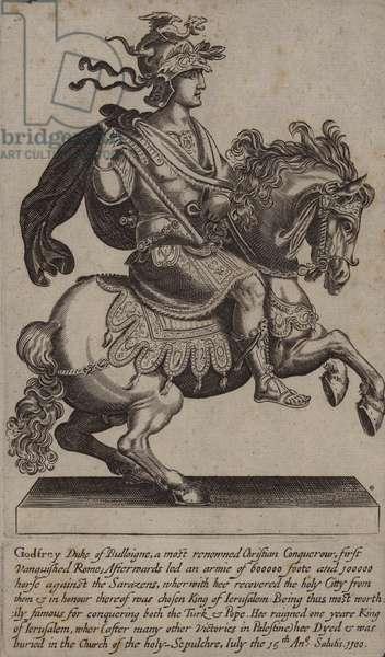 Godfrey of Bouillon, French knight, crusader and King of Jerusalem (engraving)
