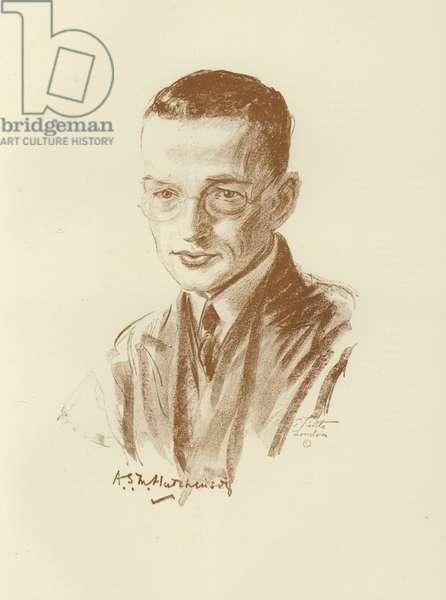 A S M Hutchinson, British novelist (litho)