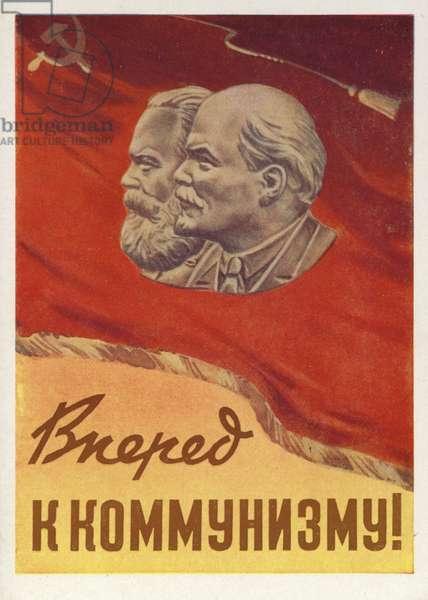 Forward to Communism! (colour litho)
