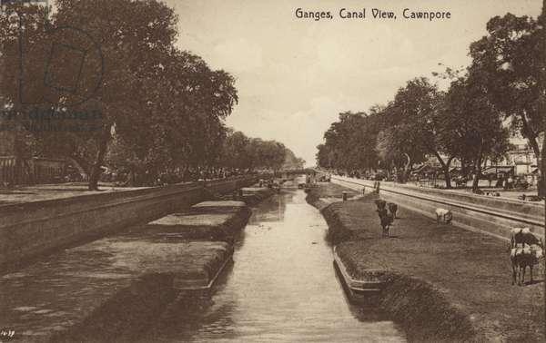 Ganga Canal (b/w photo)