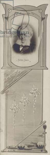 Henrik Ibsen, Norwegian playwright (litho)
