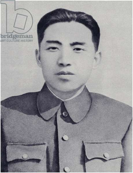 Comrade Kim Il-sung in the days of armed Anti-Japanese struggle (litho)