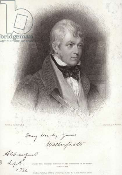 Portrait of Sir Walter Scott (engraving)