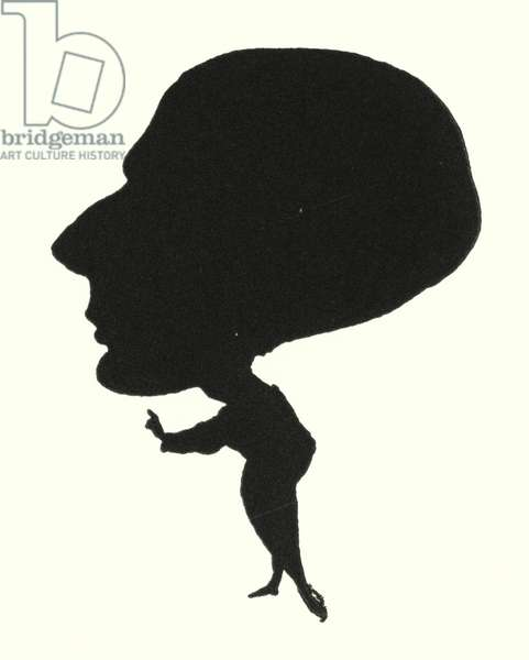 Silhouette of Aubrey Beardsley (engraving)