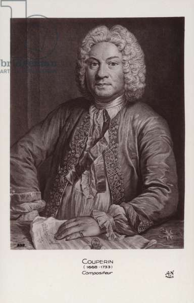 Francois Couperin, French Baroque composer, organist and harpsichordist (1668-1733) (engraving)
