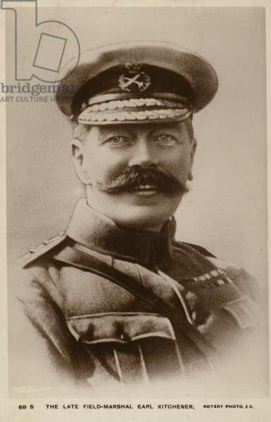 Portrait of Field Marshal, Earl Kitchener (b/w photo)