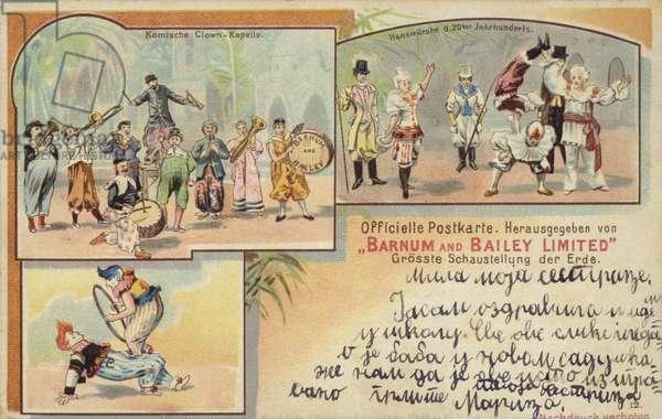 Barnum and Bailey's Circus (colour litho)