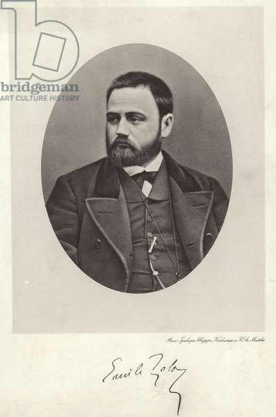 Emile Zola (b/w photo)
