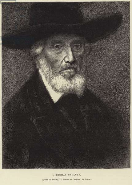 Portrait of Thomas Carlyle (engraving)