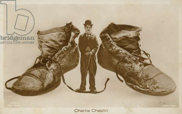 Charlie Chaplin (b/w photo)