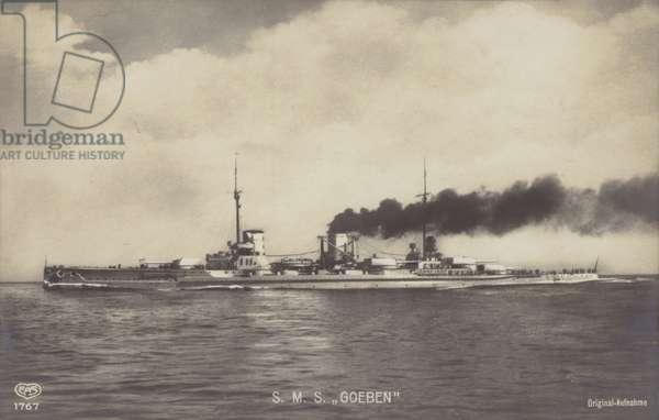 German battlecruiser SMS Goeben (b/w photo)