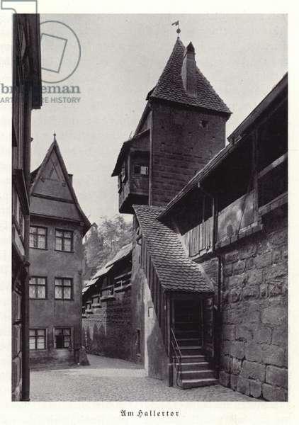 Hallertor, Nuremberg (b/w photo)