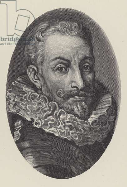 Johann Tserclaes, Count of Tilly, Dutch general of the Thirty Years War (litho)