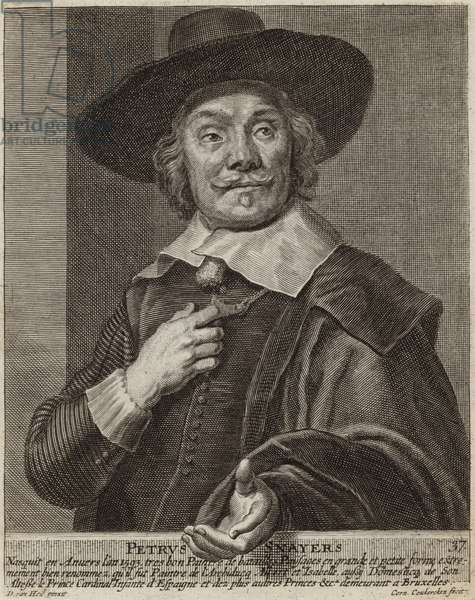 Portrait of Pieter Snayers (engraving)
