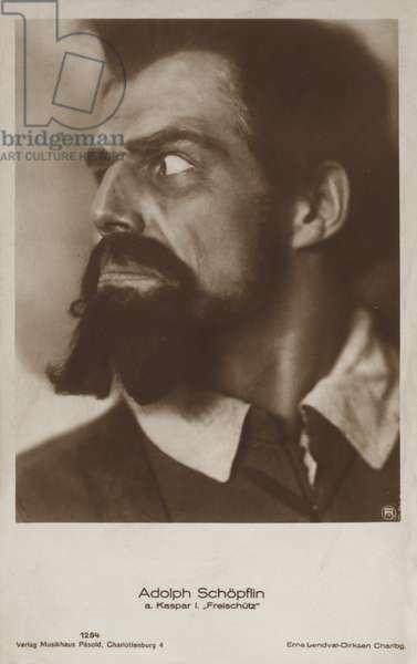 Adolph Schopflin, a Kaspar i Freischutz (b/w photo)