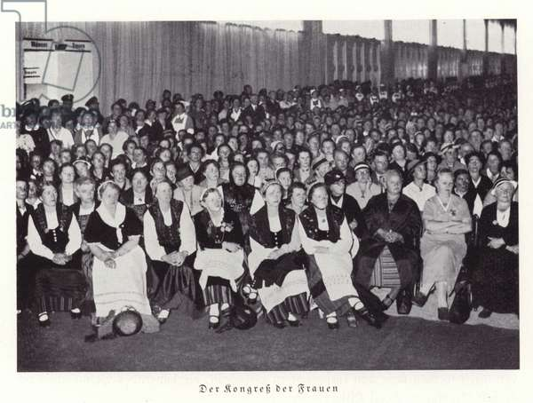 Women's congress, Nuremberg, 1936 (b/w photo)