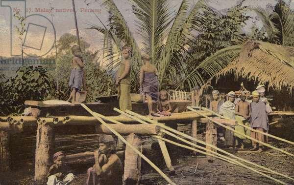 Malay natives, Penang (photo)