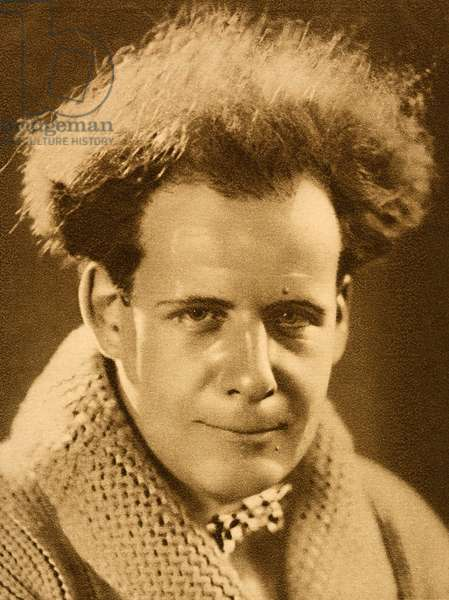 Sergei Eisenstein, Soviet Russian film director, 1928 (b/w photo)