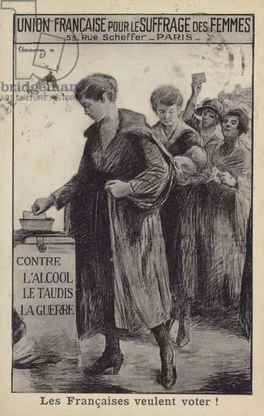 The Women of France Want to Vote (litho)