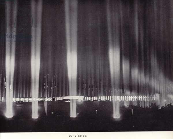 Cathedral of Light, Nuremberg Rally, 1936 (b/w photo)