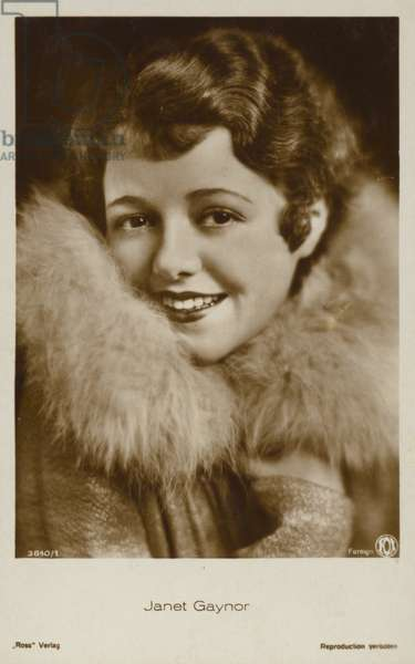 Janet Gaynor (b/w photo)